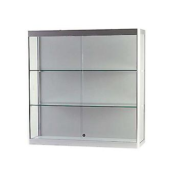 Display Cabinets - Wall Mounted Display Case - Silver