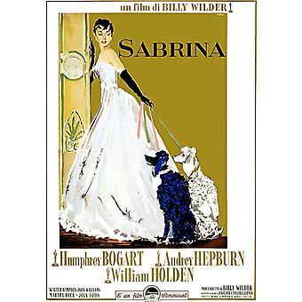 Sabrina Audrey Hepburn 1954 Movie Poster stampa di alta qualità