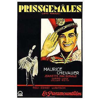 The Love Parade Swedish Poster Art Maurice Chavalier 1929 Movie Poster Masterprint