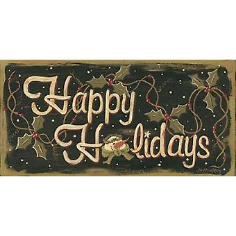 Happy Holidays Poster Print by Jo Moulton