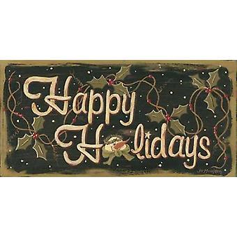 Счастливых праздников плакат печати Джо Moulton