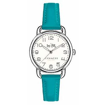 Coach Womens Delancey Blue Leather Strap White Dial 14502611 Watch