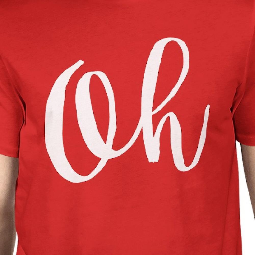 c693fd3e4c6124 Oh Mann, rote T-shirts lustige Kurzarm typografischen T-shirt | Fruugo