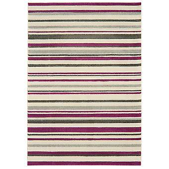 Kampala Purple Stripe Contemporary Rug