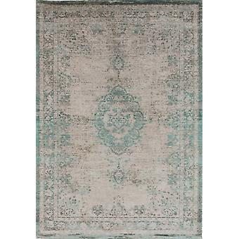 Distressed Jade Oyster Cotton Medallion Rug - Louis De Poortere 60x90