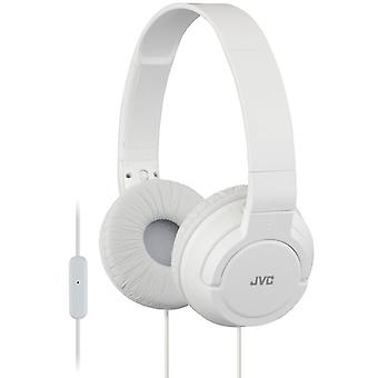 JVC Lightweight Powerful Bass Headphones with Remote and Microphone - White (HASR185W)