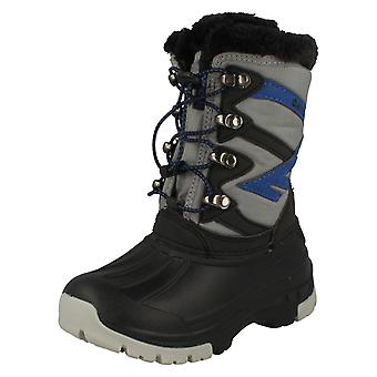 Boys Hi Tec Warm Lined Boots Avalanche