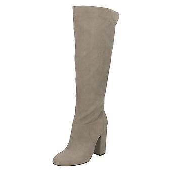 Ladies Anne Michelle Chunky Block Heel Knee High Boots F50651