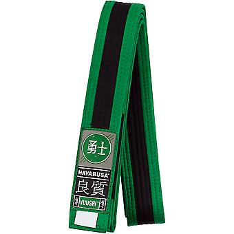 Hayabusa Youth Jiu-Jitsu Belt - Green/Black