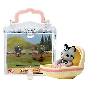 Sylvanian Families Carry baby (Cat In Cradle)
