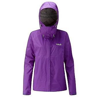 Rab Womens Downpour Jacket Nightshade (Size UK 10)