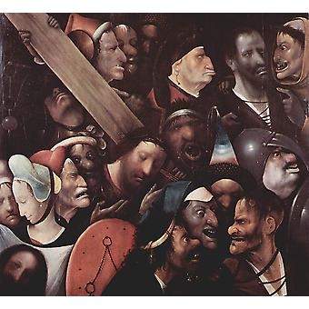Hieronymus Bosch - Jesus' Cross 055 Poster Print Giclee