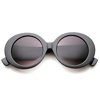 High Fashion Glam Chunky Round Oversize Sunglasses 50mm