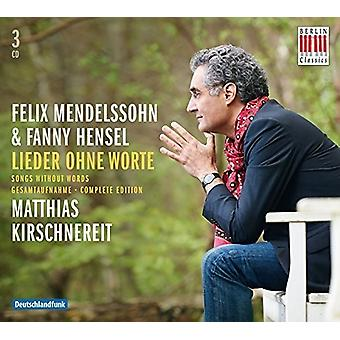 Matthias Kirschnereit - Mendelssohn: Lieder Ohne Worte /Songs Without Words [CD] USA import