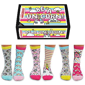 United Oddsocks Be A Unicorn Socks Gift Set