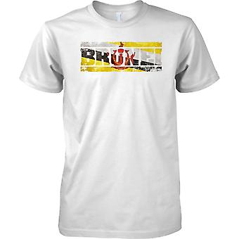 Brunei Grunge Country Name Flag Effect - Mens T Shirt