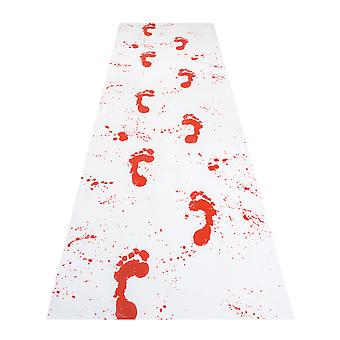 Footprint Bloody Carpet Halloween Party Decoration 450 x 60cm