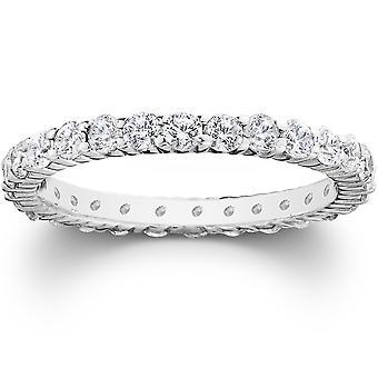 الشق البلاتين 1 قيراط الماس الخلود خاتم الزواج
