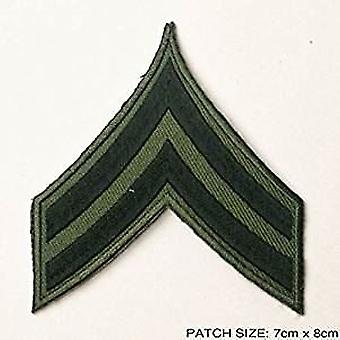 Army Corporal Badge Patch - 2 Stripes