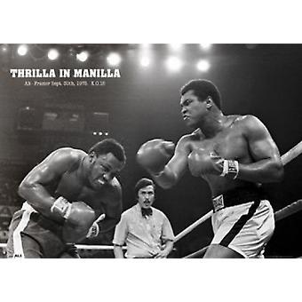 Muhammad Ali - Thrilla In Manila-Poster-Plakat-Druck