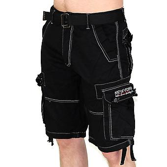 New York men's Capri Bermuda Cargo Shorts short Contrast Club Short with belt