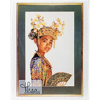 Balinese Dancer Small On Aida Counted Cross Stitch Kit-13.75
