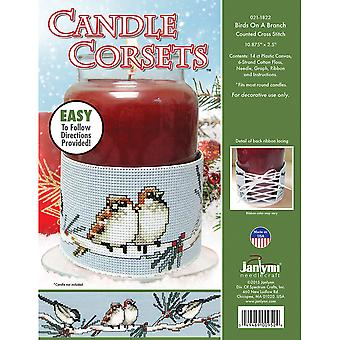 Candle Corsets Birds On A Branch Plastic Canvas Kit-10.875