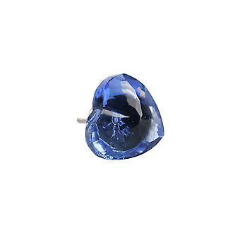 CGB Giftware Glass Heart Drawer Handle