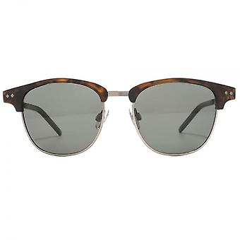 Polaroid Timeless Browline Style Sunglasses In Matte Havana Polarised