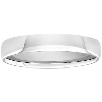 High Polished Wedding Band 950 Platinum