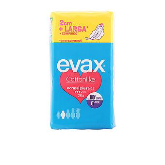 Evax Cottonlike Compresas Alas Normal Plus 28 Units Womens New