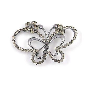 Brooches Store Black Diamond Butterfly Brooch