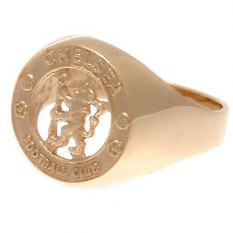 Chelsea 9ct Gold Crest Ring Medium