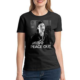 Napoleon Dynamite Peace Out Women's Black T-shirt