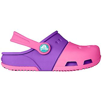 Crocs Girls Electro II Slip On Crosslite Slingback Clog Pink