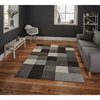 Brooklyn 646 grå rektangel mattor moderna mattor