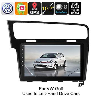 One DIN Car Stereo VW Golf - Android 8.0, GPS, Bluetooth, WiFi, 3G, Octa-Core CPU, 10.2-Inch HD Display, CAN BUS