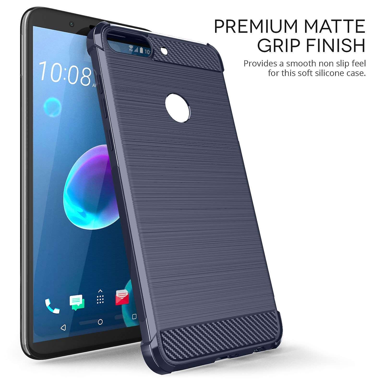 HTC Desire 12 Plus Carbon Anti Fall TPU Case - Blue