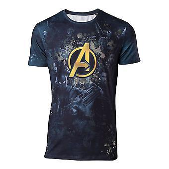 Marvel Mens Comics Avengers Infinity War Team Sublimation Print T-Shirt XX Large