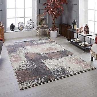 Sansa 2 S Grey Pink  Rectangle Rugs Modern Rugs