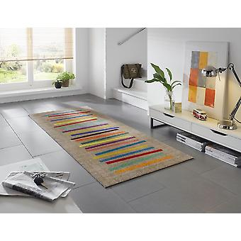 wash + dry mixed stripes 80 x 200 cm washable rug
