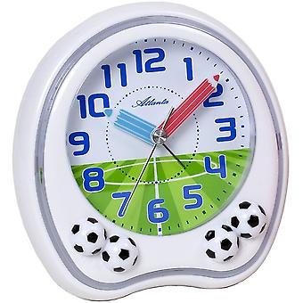 Atlanta 1719/0F alarm clock kids alarm clock white football soccer alarm clock for kids