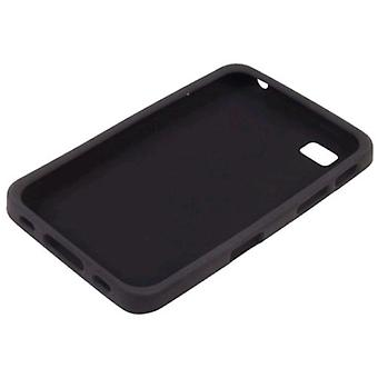 Ventev beskyttende silikon hud sak for Samsung Galaxy Tab P1000 - svart