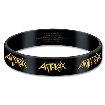 Anthrax Wristband band Logo Repeat for all kings Official New Black 10 mm rubber