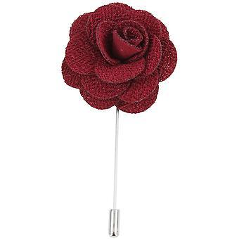 David Van Hagen Flower Lapel Pin - Burgundy