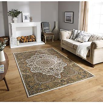 Tabriz 70W Beige Cream  Rectangle Rugs Traditional Rugs