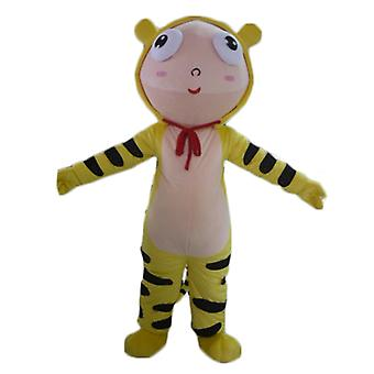 SPOTSOUND dressed boy mascot in costume yellow Tiger