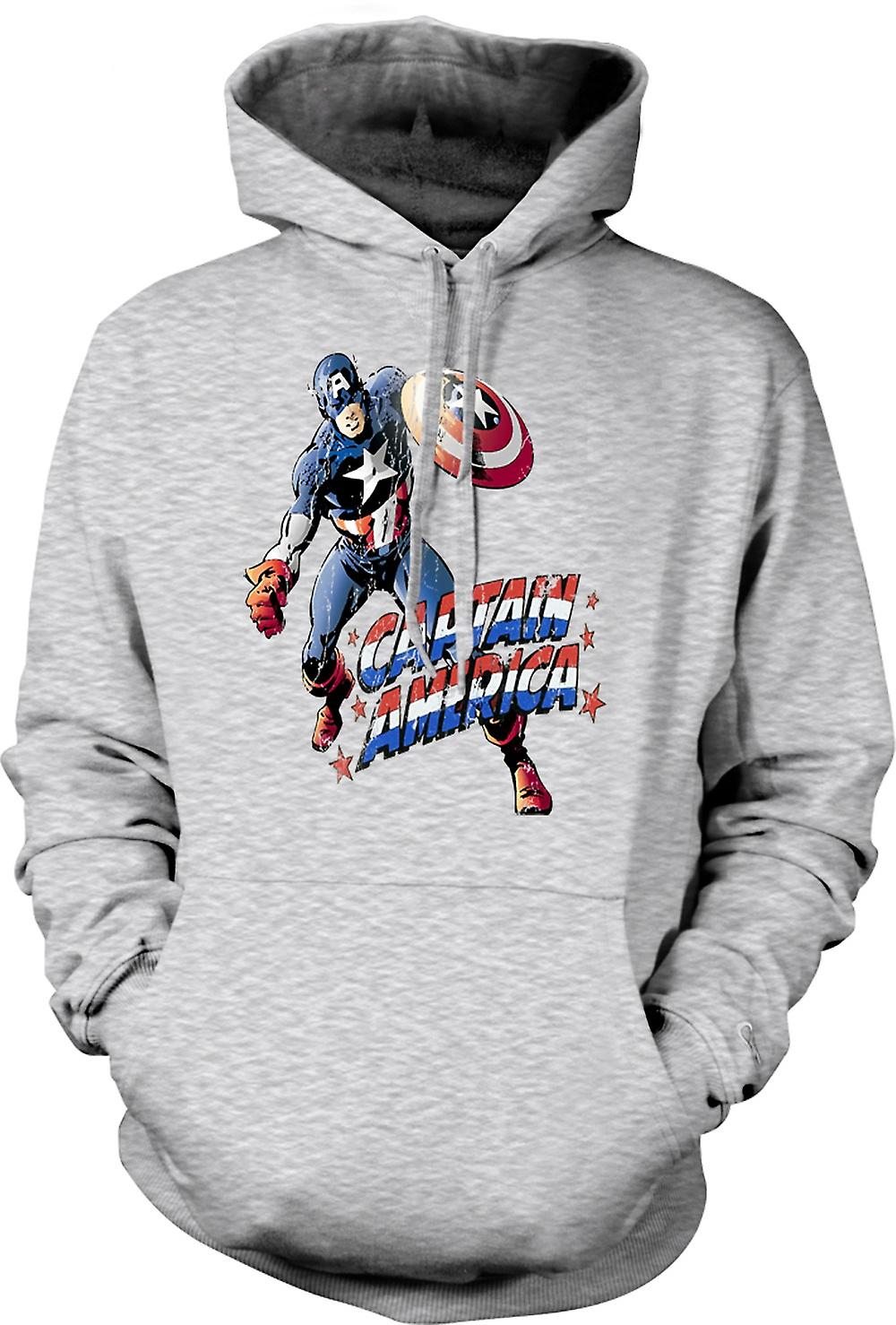 Mens Hoodie - Captain America - Comic Hero