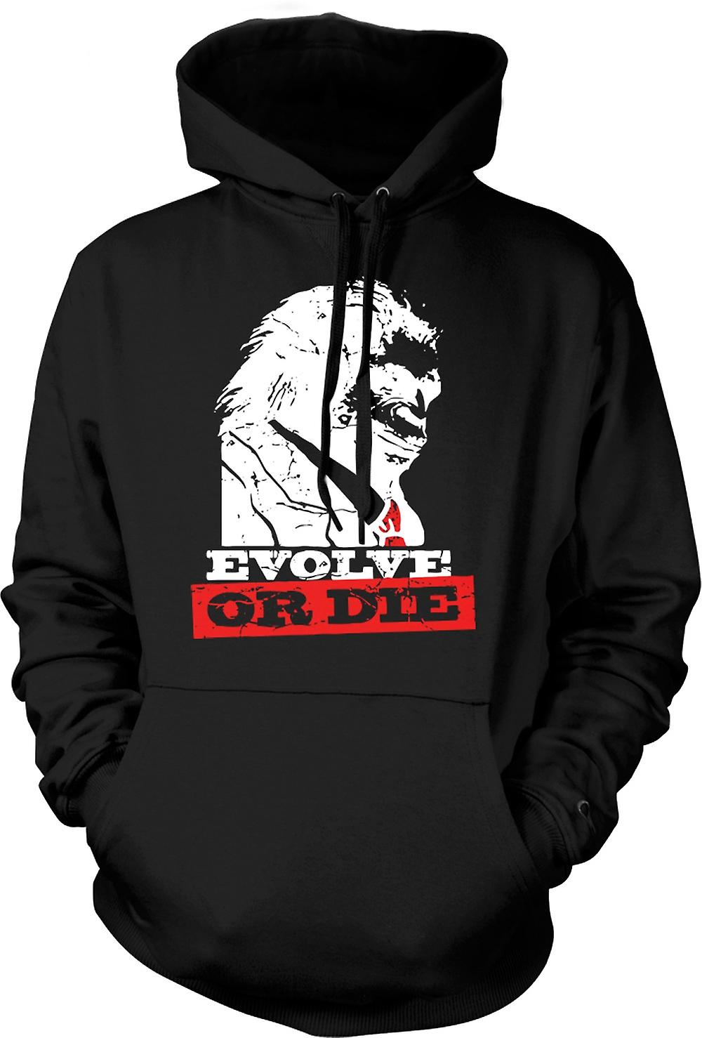 Kids Hoodie - Evolve Or Die Planet Of Apes - Funny Retro