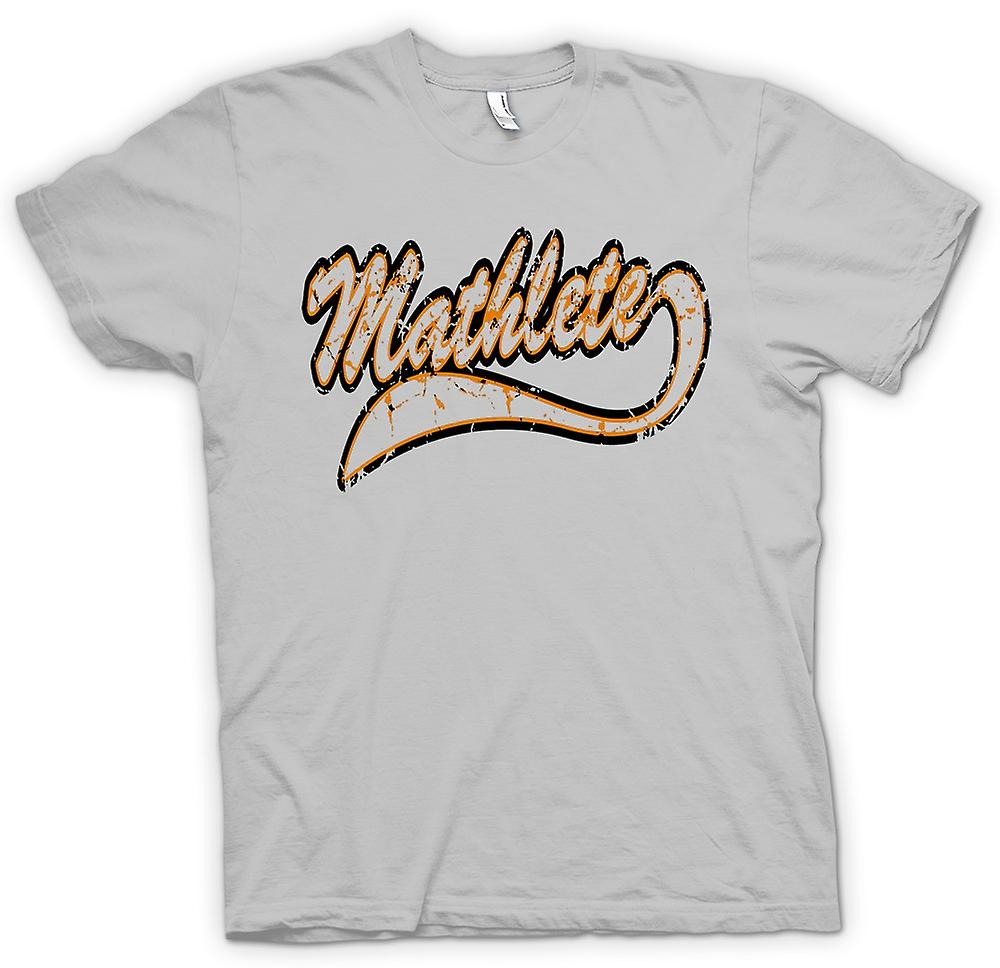 Mens T-shirt - Mathlete Maths - Funny